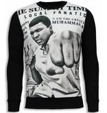 Local Fanatic Muhammad Ali Newspaper - Sweater - Zwart