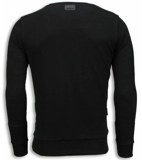Local Fanatic Tiger Chick - Sweater - Zwart