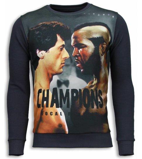 Local Fanatic Rocky III - Sweater - Donker Grijs