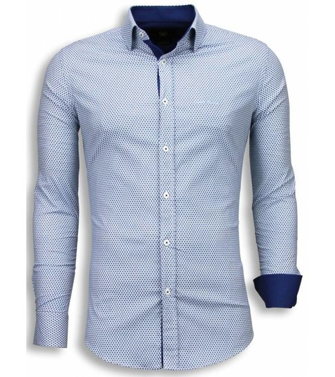 Bellini Gentile Bijenkorf Italiaanse Slim Overhemden Fit Blouse TK3lcFJ1