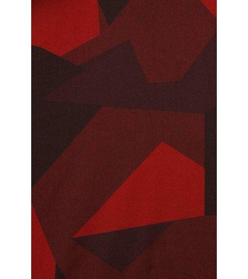 TONY BACKER Italiaanse Overhemden - Slim Fit Blouse - Modern Army Pattern - Rood