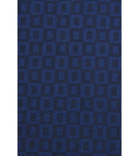 TONY BACKER Italiaanse Overhemden - Slim Fit Blouse - Scale Pattern - Blauw