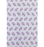 TONY BACKER Italiaanse Overhemden - Slim Fit Blouse - Daisy Pattern - Wit