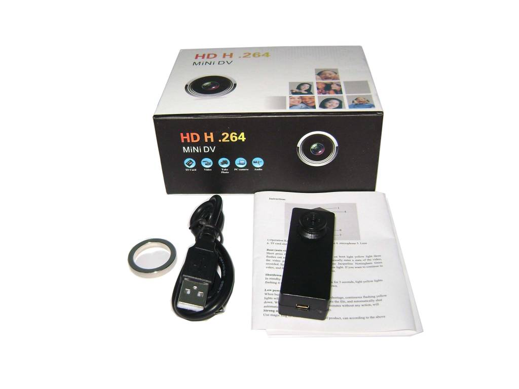 JustCompare Verborgen camera in knoop met voice recorder FULL HD