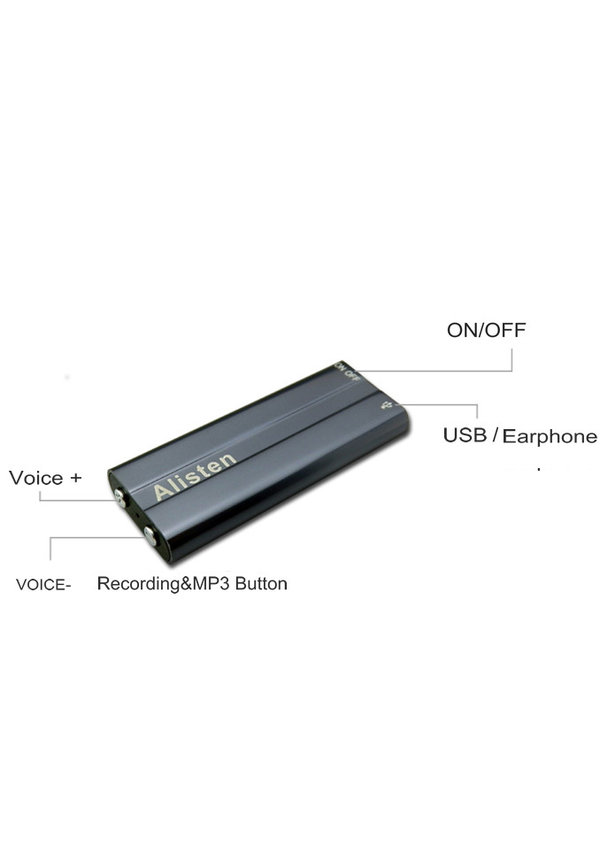 DVR Digitale Voice Recorder metaal  3.5mm jack 8GB