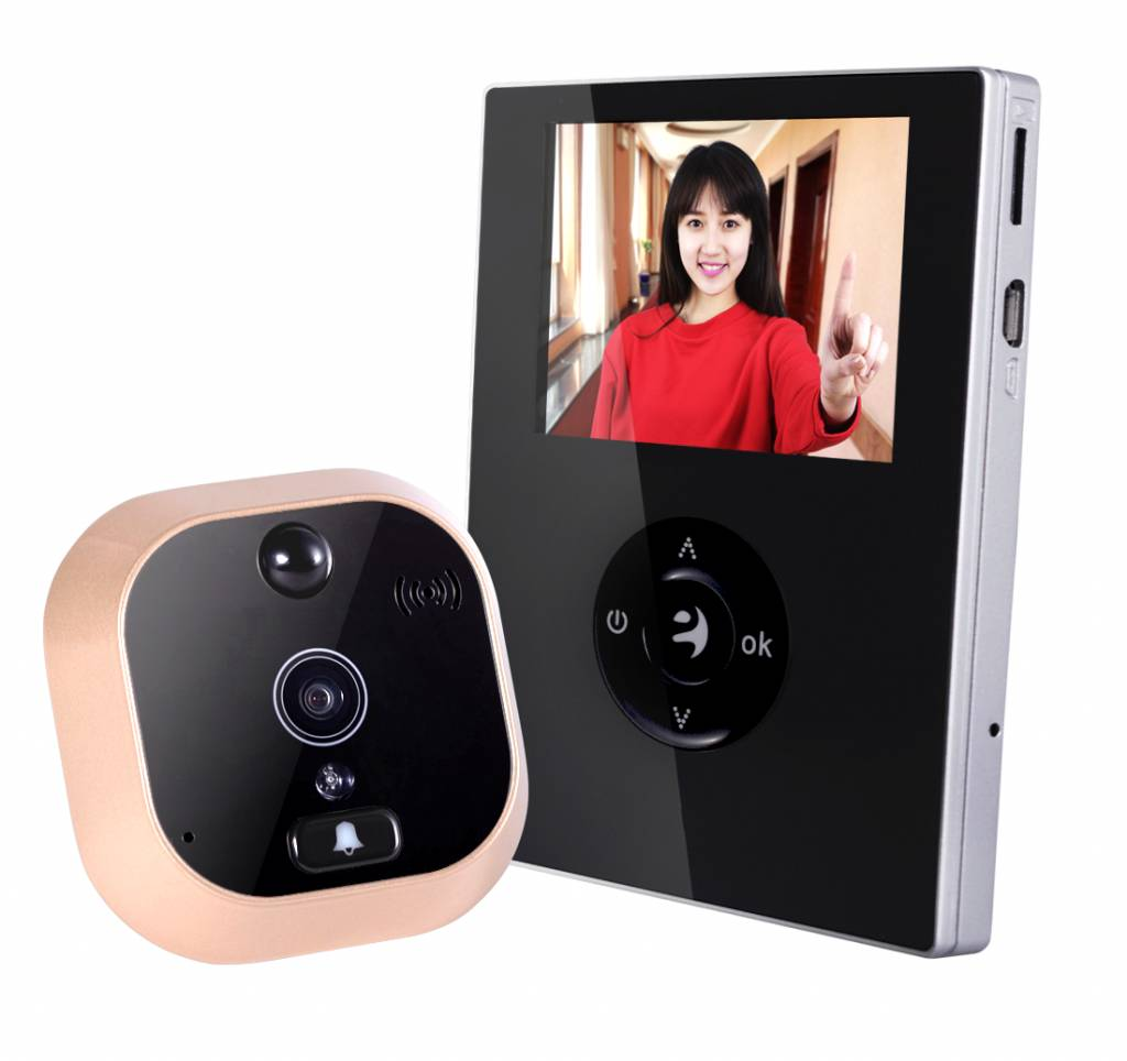 JustCompare WIFI video deurbel met camera 2.8 INCH LCD scherm