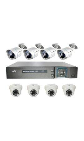 YubiX YubiX 1080P Camerasysteem Beveiligingscamera set 8 Camera binnen buiten
