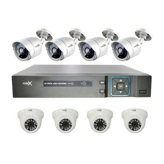 YubiX YubiX 1080P Camerasysteem Beveiligingscamera 8 Camera binnen buiten