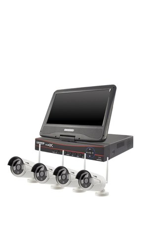 YubiX YubiX Bewakingscamera systeem compleet 4 WIFI Camera's