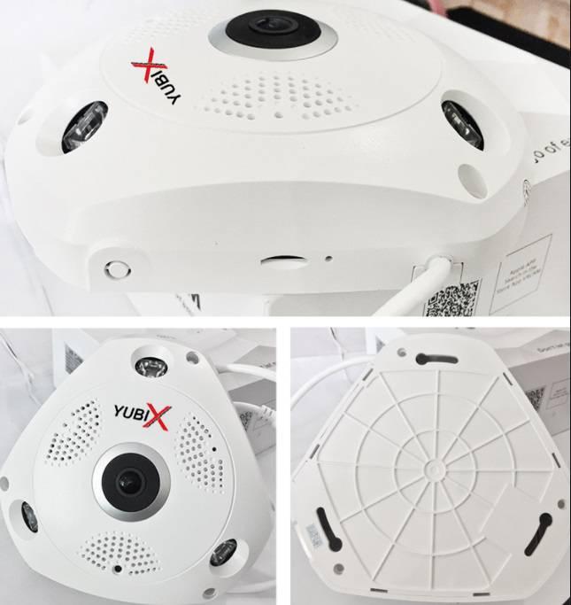 YubiX Panoramische draadloze 360 IP bewakingscamera 5MP