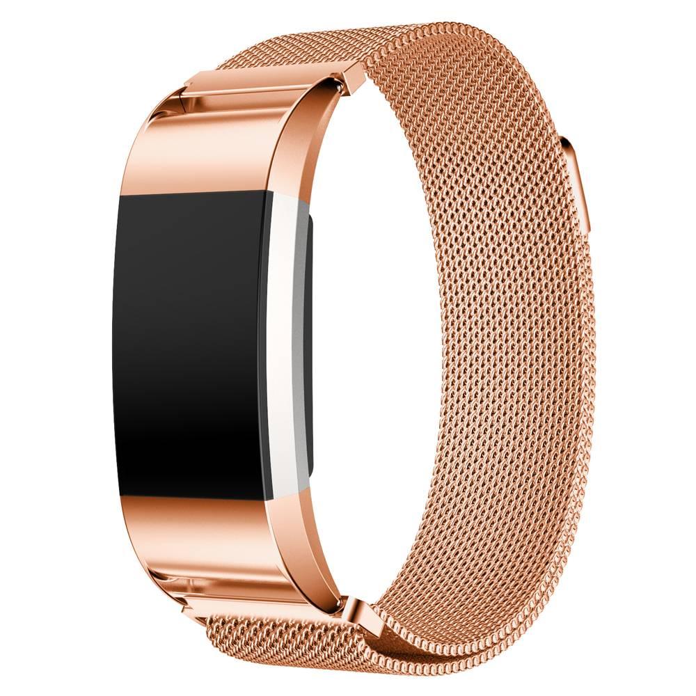 YubiX Milanees bandje voor Fitbit Charge 2