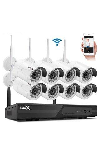 YubiX YubiX 8 Camera's beveiliging camera systeem Wifi Draadloos Buiten