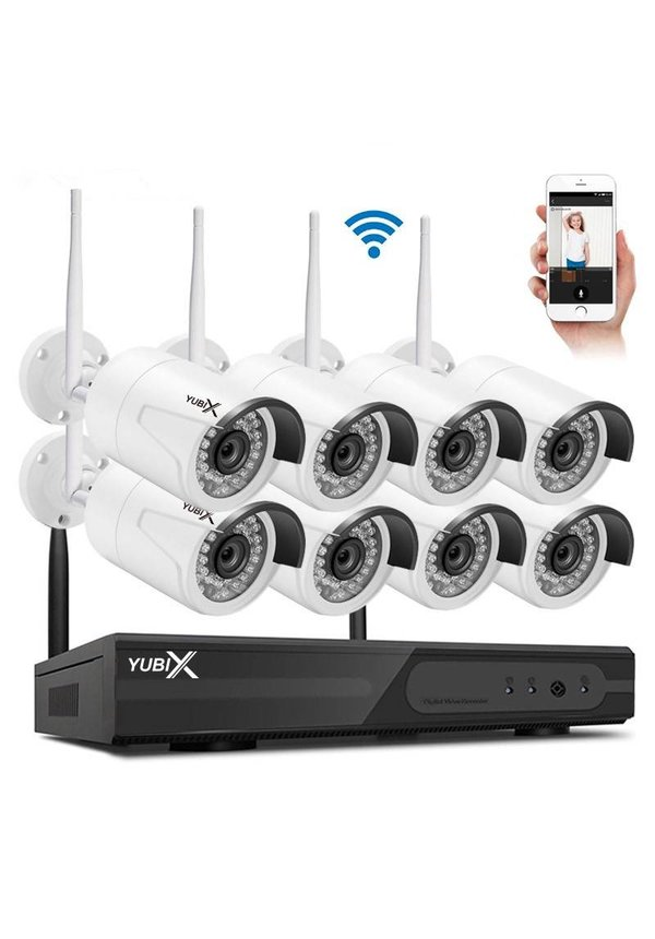 YubiX 8 Camera's beveiliging camera systeem Wifi Draadloos Buiten