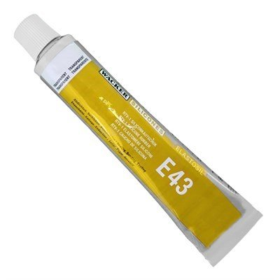 Elastosil E43 transparent multifuncional glue for Silicones. Tube 90 ml.