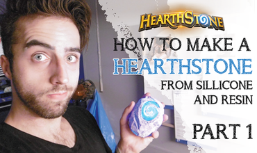 How to make a Hearthstone with Resin and silicone Part 1