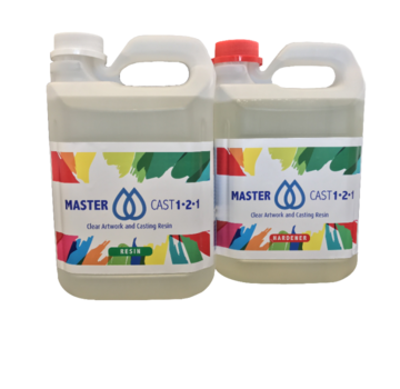 Eli-Chem Resins UK LTD MasterCast 1-2-1 Helder Epoxy Resin coating and resin art