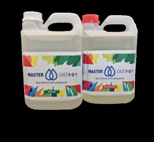 Eli-Chem Resins UK LTD MasterCast 1-2-1 Glasklar Epoxy Coating Harz