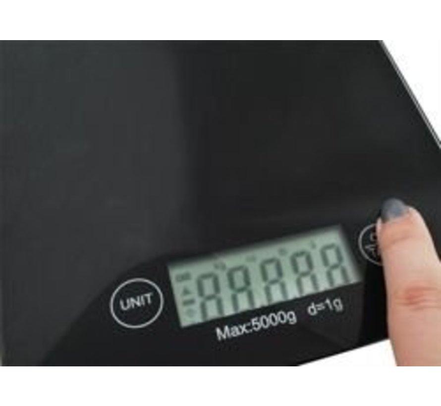Weegschaal 0 tot 5 kg.