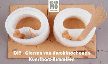 DIY Gießen von durchbrochenen Kunstharz-Armreifen