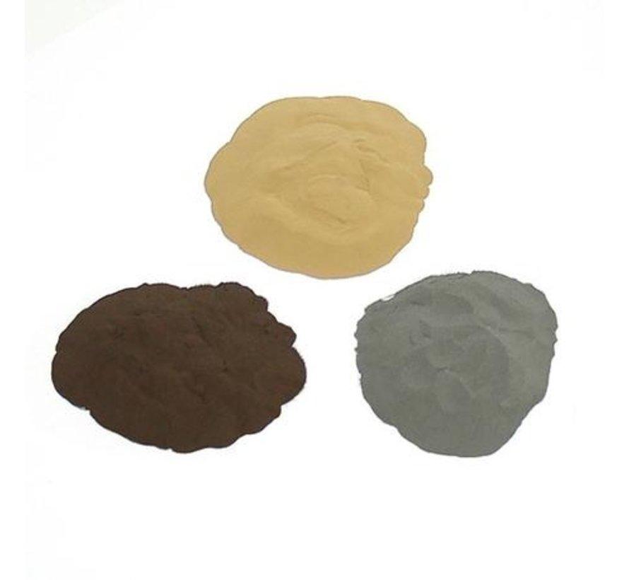 Metaalpoeder - brons, ijzer of koper
