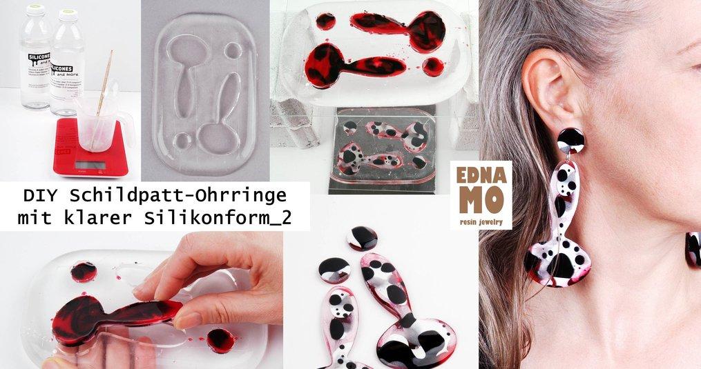 DIY SChildpatt Ohrringe mit klarer Silikonform