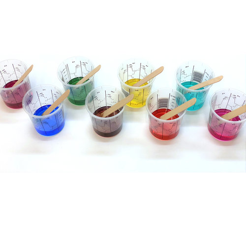 Transparent colourant  for polyurethane or epoxy resin (liquid)