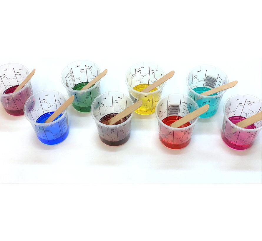 Transparante kleurstof voor polyurethaan of epoxy (vloeibaar)