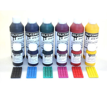 Acrylic resin color paste