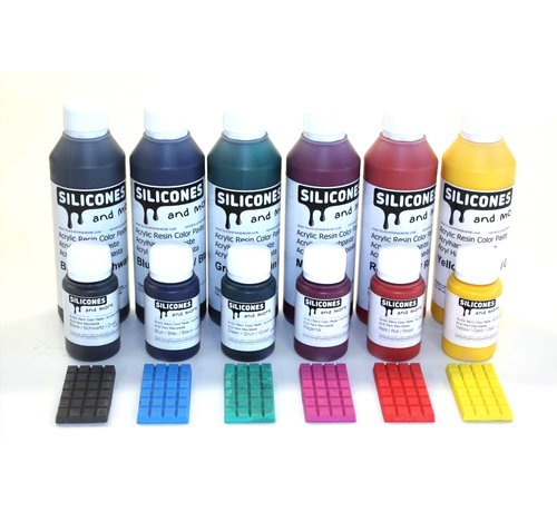 Color paste for acrylic resin