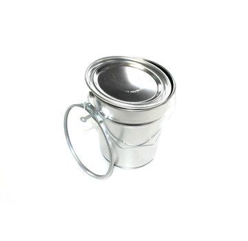 Conisch aluminium blik, 5 Liter inhoud.