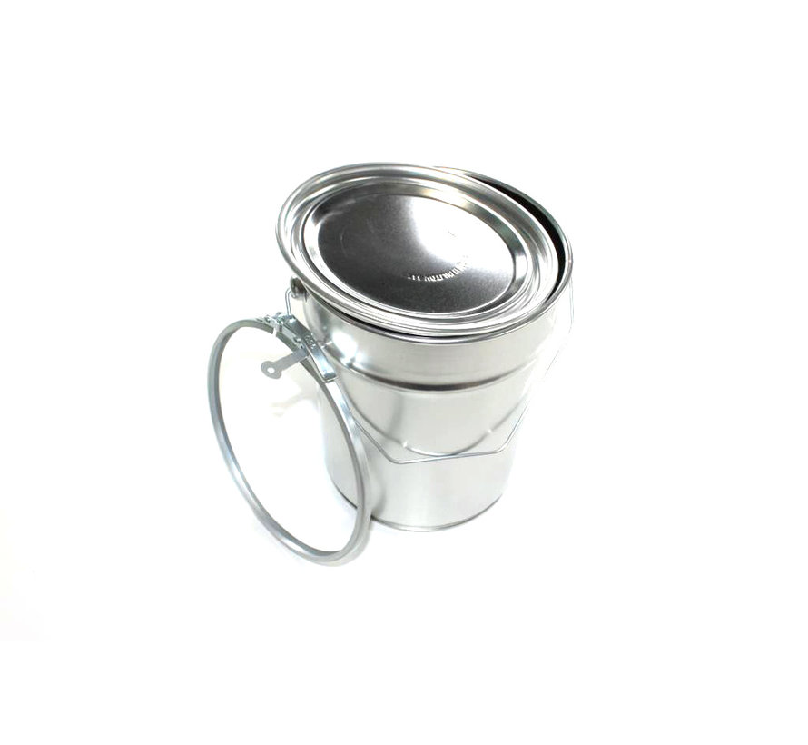 Conical aluminium can, 5 liter content.