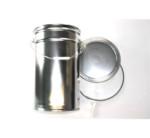 Conical sheet steel can, 25 liter content