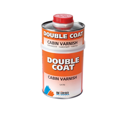De IJssel Coatings Double Coat Cabin Varnish - Satin - 750 ml. Set