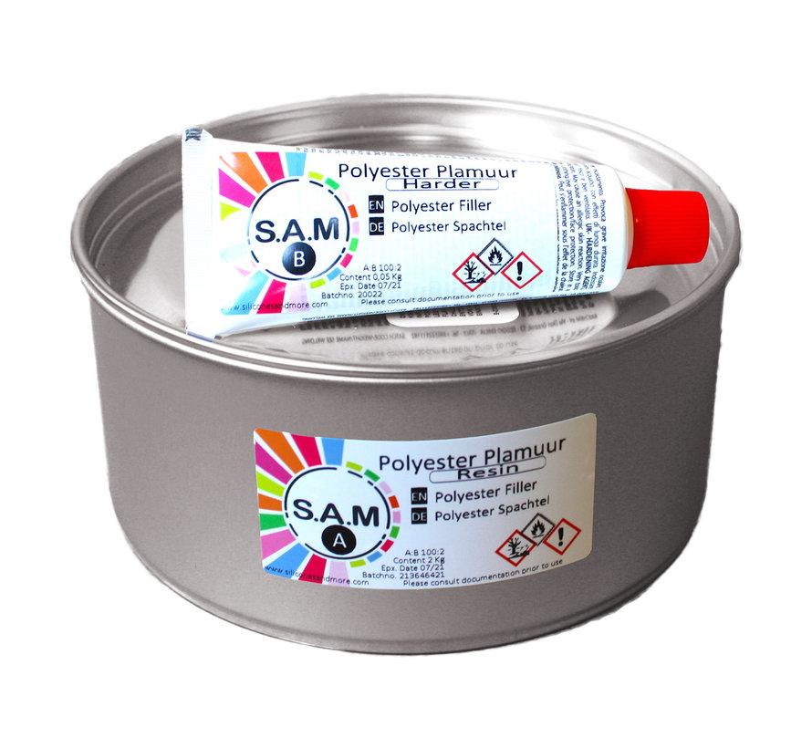 Polyester Filler 2 kg. Kit