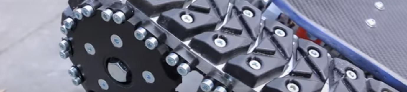 Maak je eigen rupsbanden met PU - Tank Track Skateboard