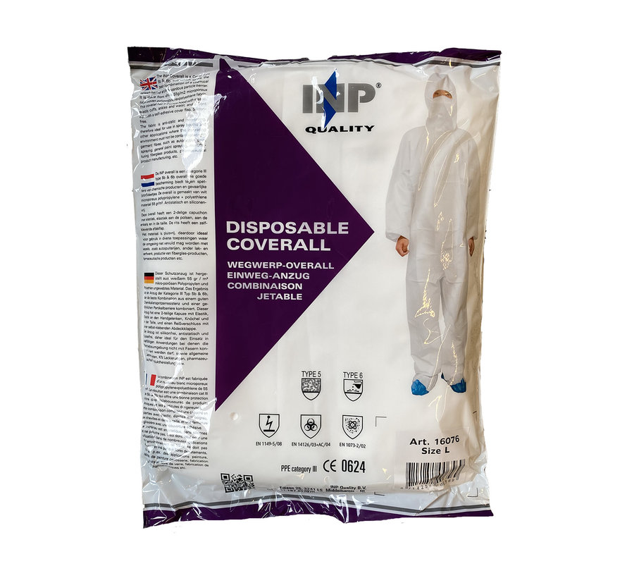 Disposable Coverall - Size L