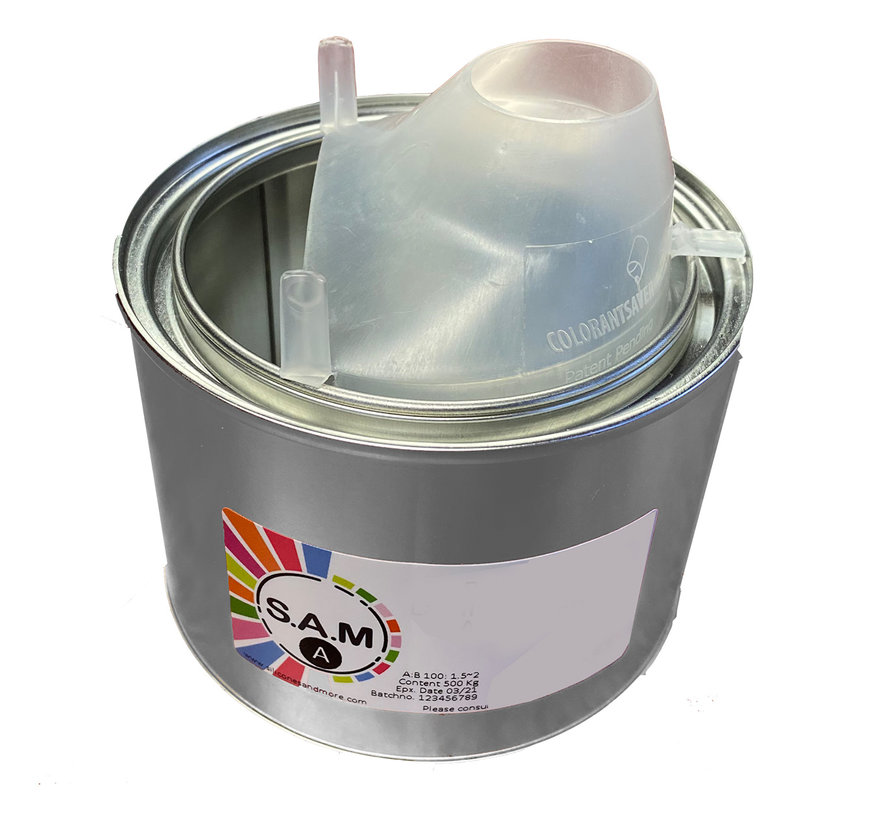 Spout for paint cans up to 1 liter