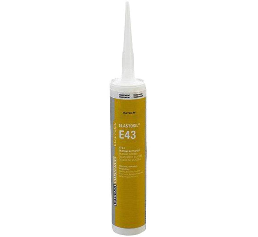 Elastosil E43 transparant  multifunctionele lijm voor siliconen.
