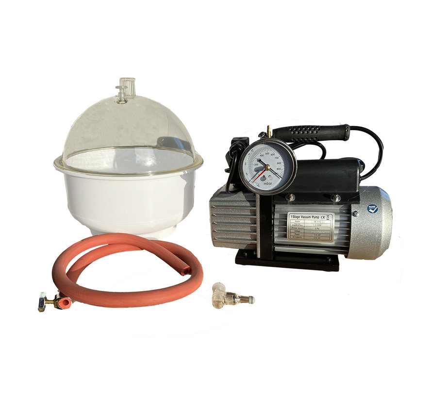Vacuümpomp  EVD-VE115SV, inclusief vacuümkamer 9 liter