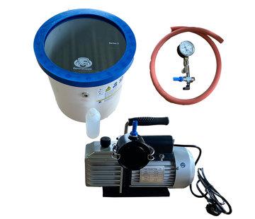 Eurovacuum Vacuum pump EVD-VE235,  including vacuum chamber 25 Liter