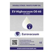 Eurovacuum Olie t.b.v. Vacuümpomp - EV-Highvacuum Oil-60