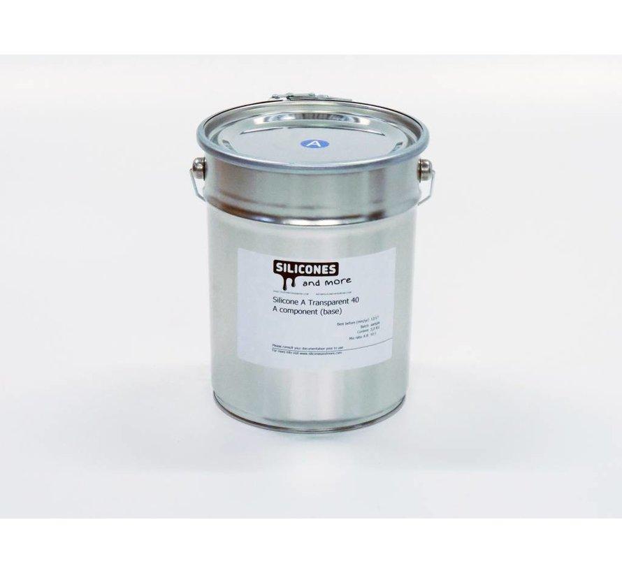 Siliconen Additie Transparant 40 Snel (Hard)