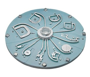HTV silicone Disk Blue