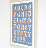 ABC poster diepdruk
