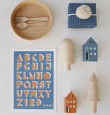 ABC poster embossed