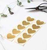 golden heart stickers