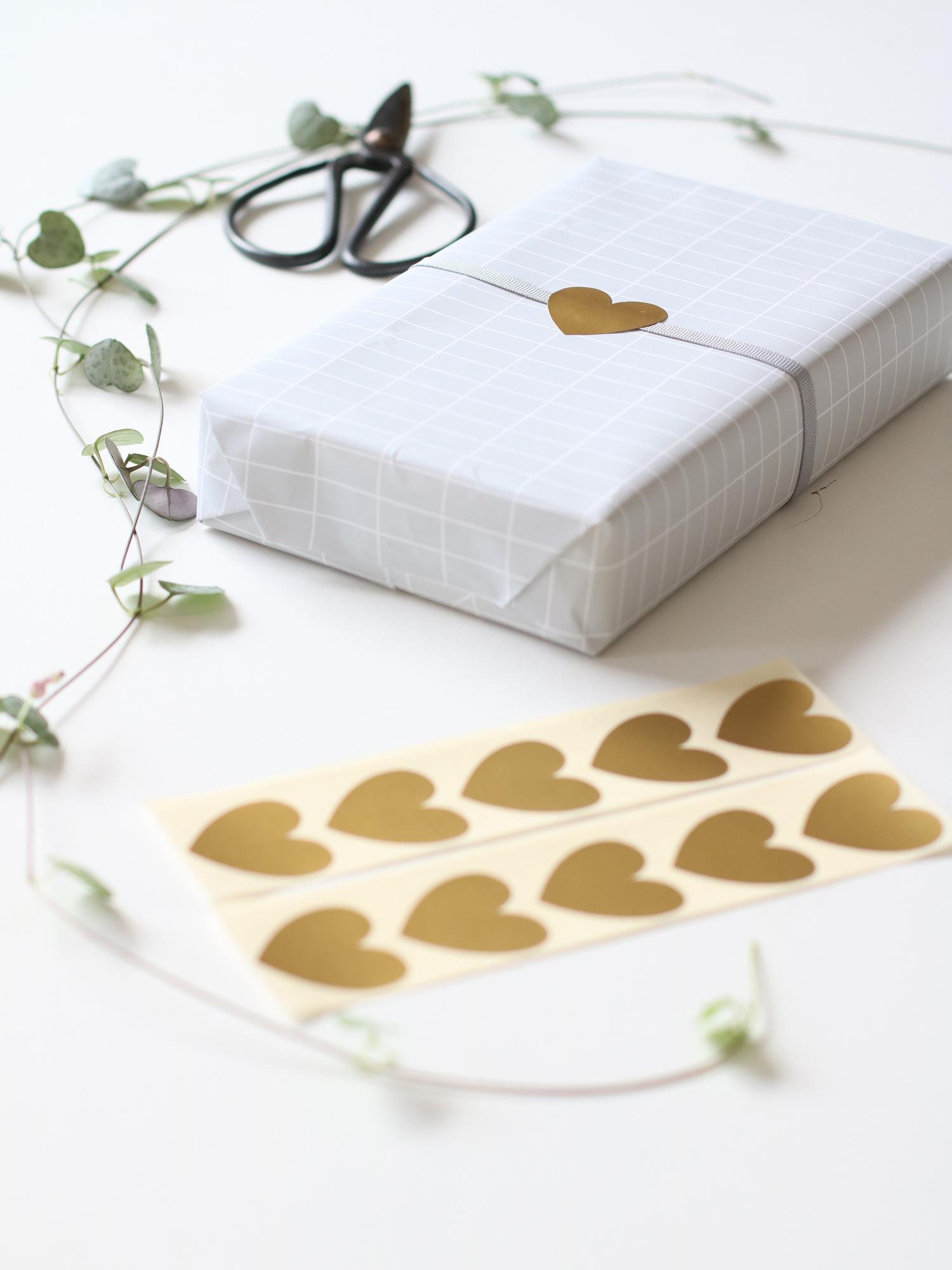 gouden hart stickers