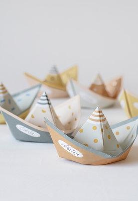 Segel vouwbootjes