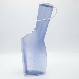 Urinaal Man Plastiek Glashelder met Wit Deksel