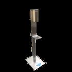 - gelSafe ontsmettingszuil in inox met automatische dispenser